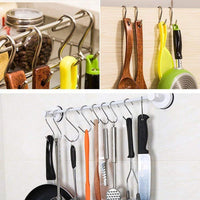 SUJING 15 Pack Heavy-Duty S Hooks Stainless Steel S Shaped Hooks Hanging Hangers Hanging Hooks Pan Pot Holder Rack Hooks