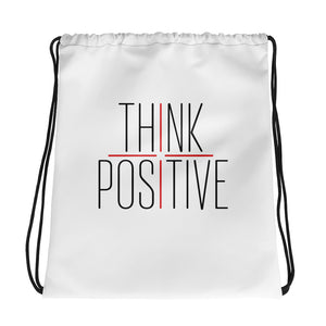 Think Positive Drawstring bag
