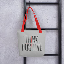 Load image into Gallery viewer, Think Positive Tote bag