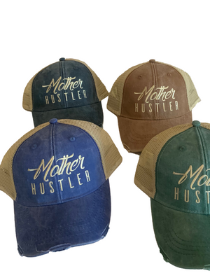 Mother Hustler Distressed Dad Hat