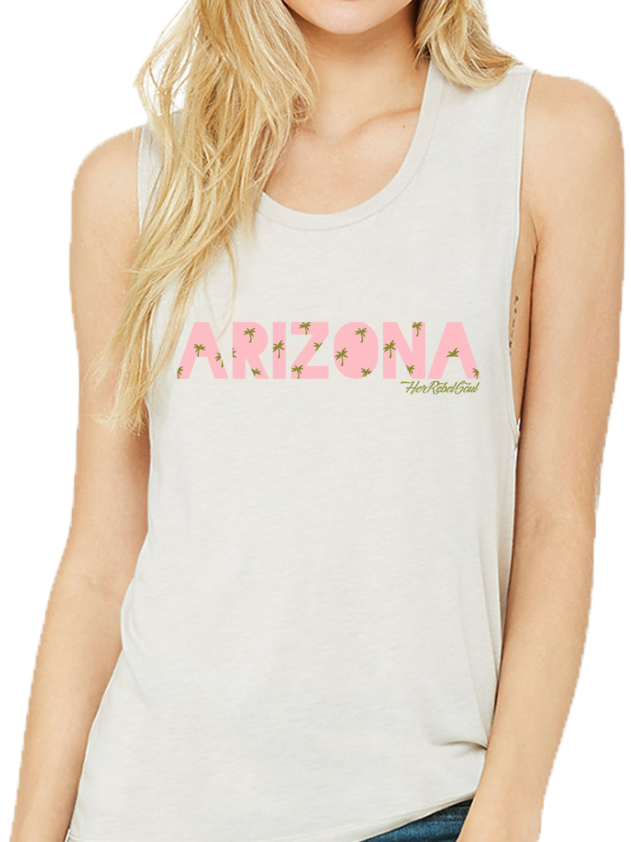 RETRO ARIZONA PALM TREE MUSCLE TANK