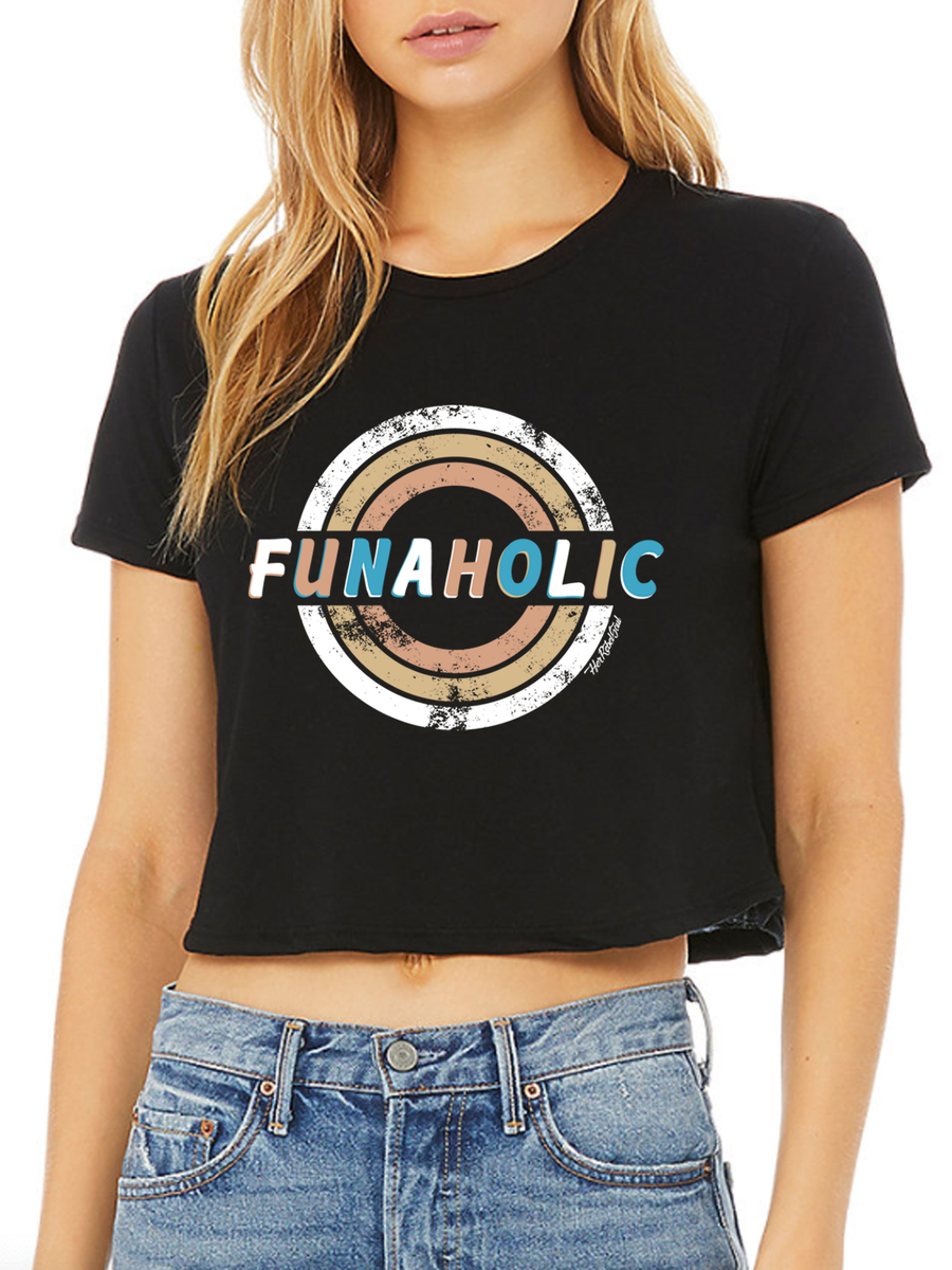 FUNAHOLIC CROPPED LOOSE TEE