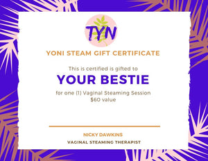 Yoni Steam Gift Certificate
