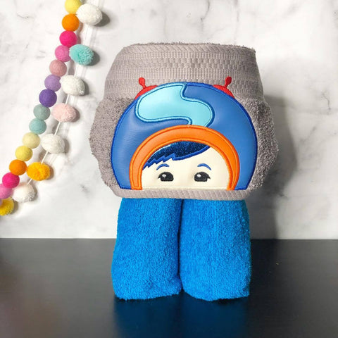 Geo Shape Boy Hooded Towel