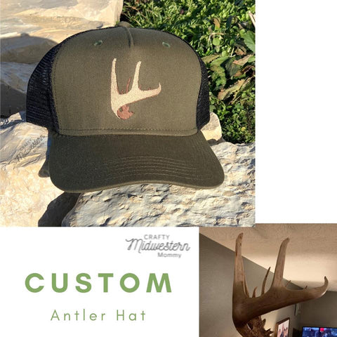 Custom Antler Hat