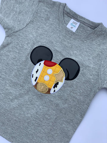 Mouse Head Applique Shirt