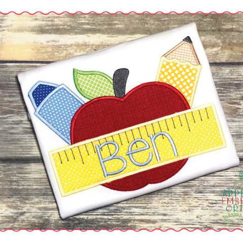 Apple with School Supplies Shirt