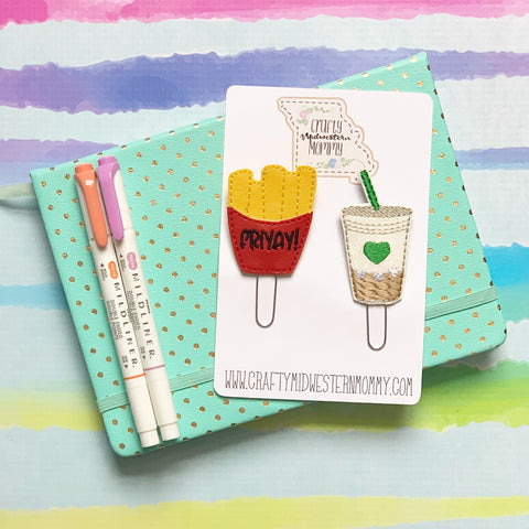 Friyay and Coffee Planner Clip