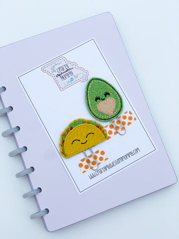 Taco and Avocado Planner Clip