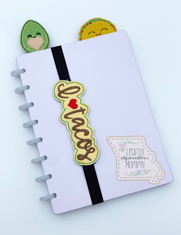 I ❤️ Tacos Planner Band or Bookmark