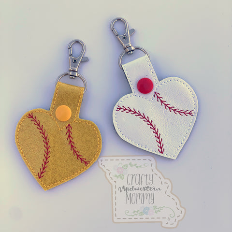 Baseball or Softball <3 Keychain