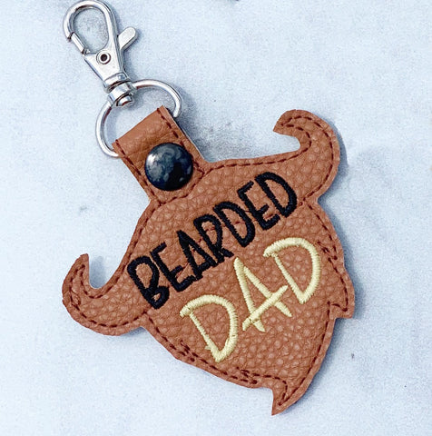 Bearded Dad Keychain