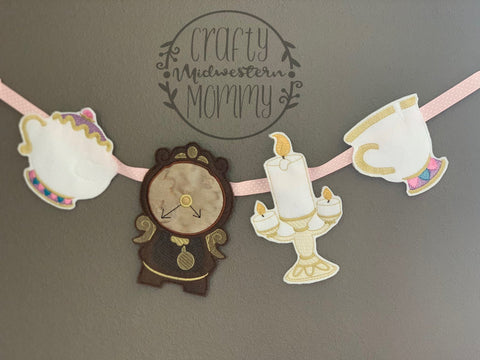 Tea Cup Birthday Banner