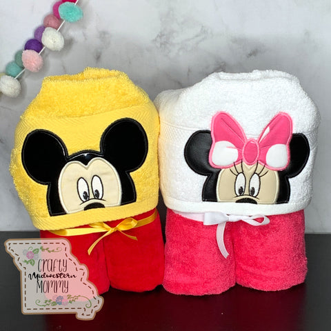 Mouse Duo Hooded Towels (2 Towels)