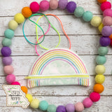 Rainbow Zipper Purse