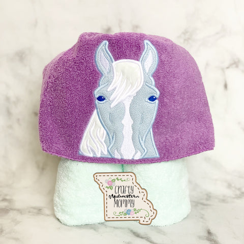 Water Horse Hooded Towel