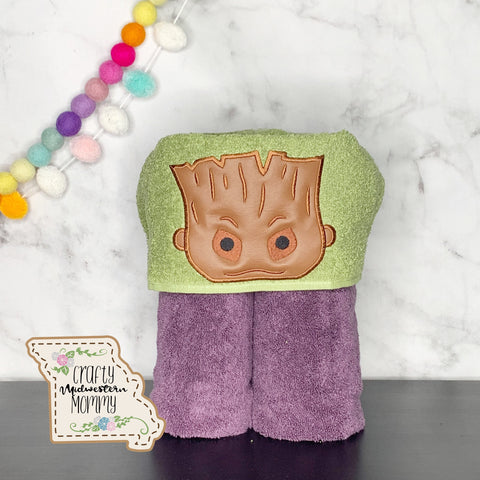 Stack Stack Tree Man Hooded Towel