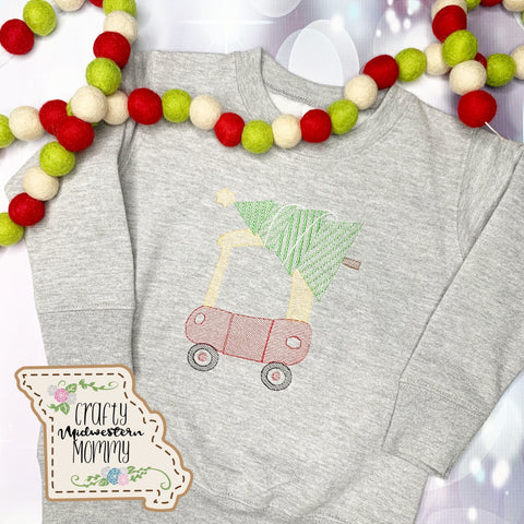 Kids Car with Tree Sweatshirt