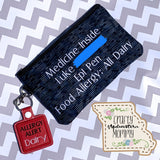 Allergy/Medical Alert Keychain