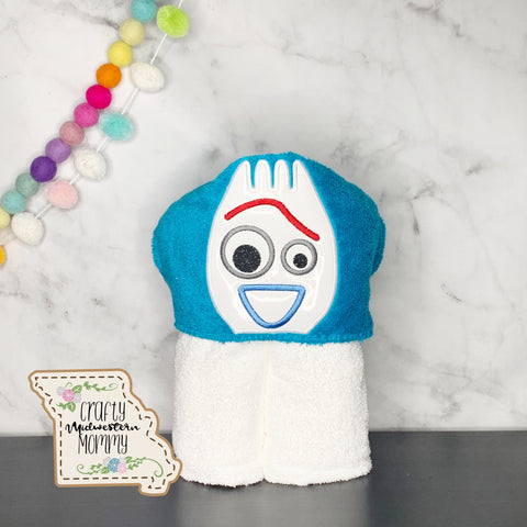 Toy Spork Hooded Towel