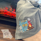Dream by the Fire Fleece Blanket