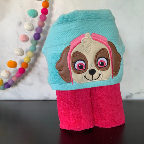 Helicopter Dog Hooded Towel