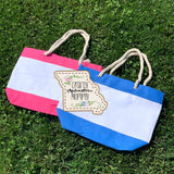 Beach Striped Tote