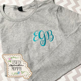 Monogrammed Solid Shirt