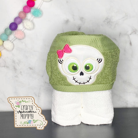 Girl Skeleton Hooded Towel