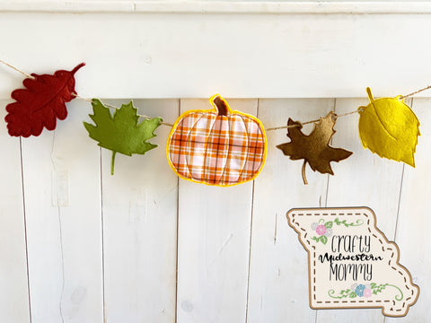 Pumpkin and Leaves Banner