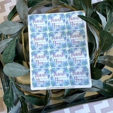 Blue Hydrangea Thank You Stickers