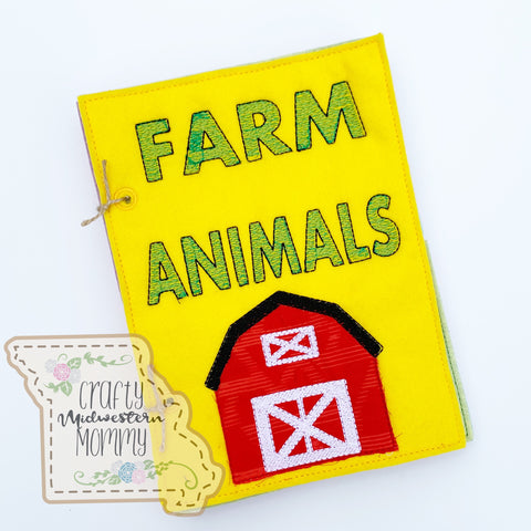 Farm Animals Felt Book