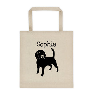 Beagle Personalized Silhouette Tote Bag