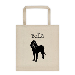 Bloodhound Personalized Silhouette Tote Bag