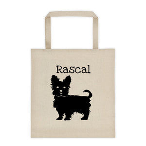 Yorkie Personalized Silhouette Tote Bag