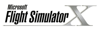 Microsoft Flight Simulator X Logo. Flight Sounds aviation headset USB adapters are compatible with the Microsoft FSX simulator program.