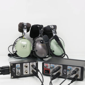 Flight Sounds FSX DUAL-GA and FSX DUAL PAX-GA. Auxiliary general aviation headset adapter for additional two general aviation headsets.
