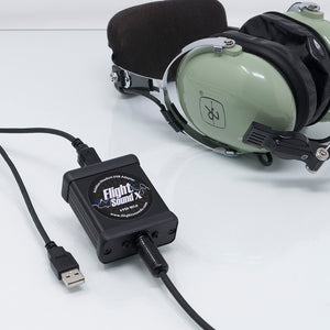 Flights Sound Solo Military Aviation Headset USB Adapter