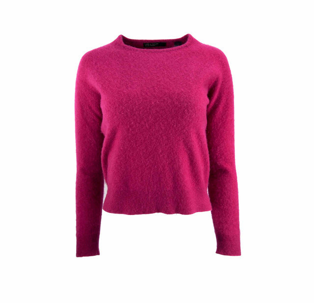 Vintage Lord & Taylor Brushed Berry Pink Cashmere Sweater - Women's L