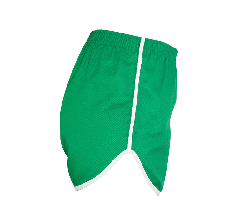 Vintage White and Green Gym and Yoga  Shorts with Side Rise - Women's M