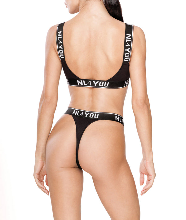 Black Triangle Bra & Thong