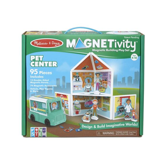 Magnetivity Magnetic Building Play Set - Pet Center - Happki