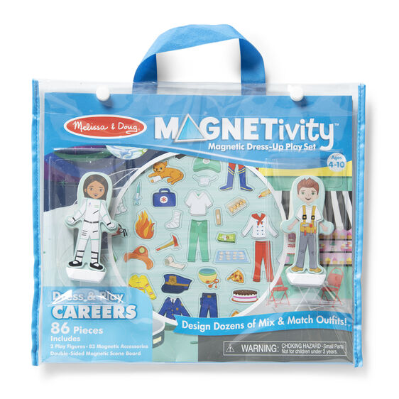 Magnetivity Magnetic Dress-Up Play Set - Dress & Play Careers - Happki