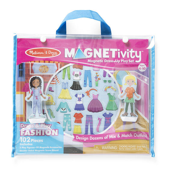Magnetivity Magnetic Dress-Up Play Set - Dress & Play Fashion - Happki