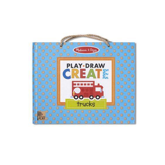 Natural Play: Play, Draw, Create Reusable Drawing & Magnet Kit - Trucks - Happki