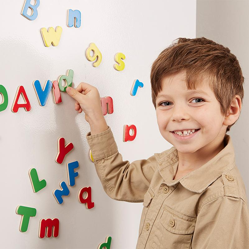 Wooden Letter Alphabet Magnets - Happki