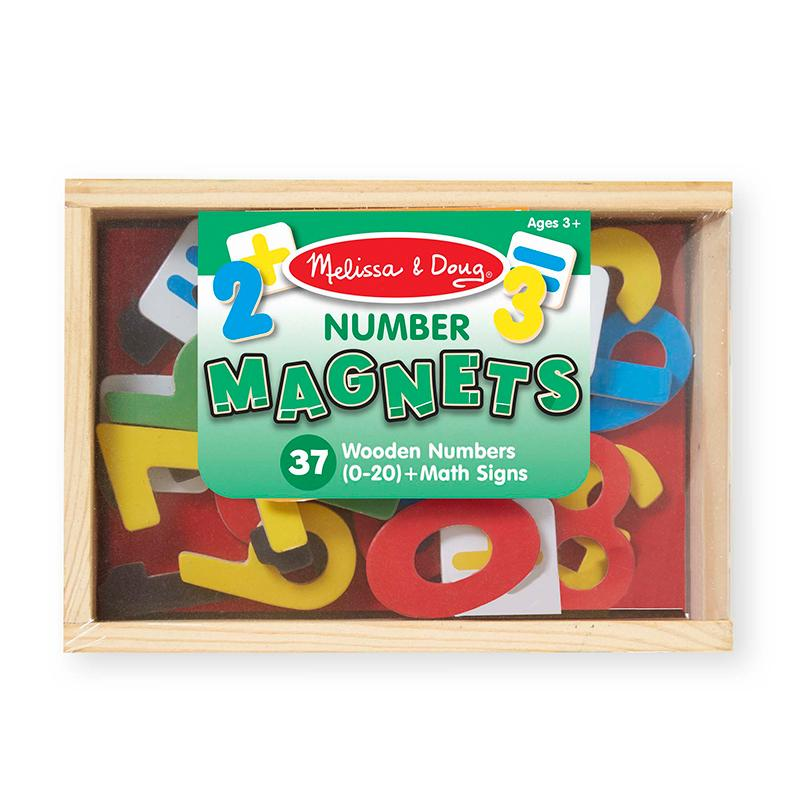 Magnetic Wooden Numbers - Happki
