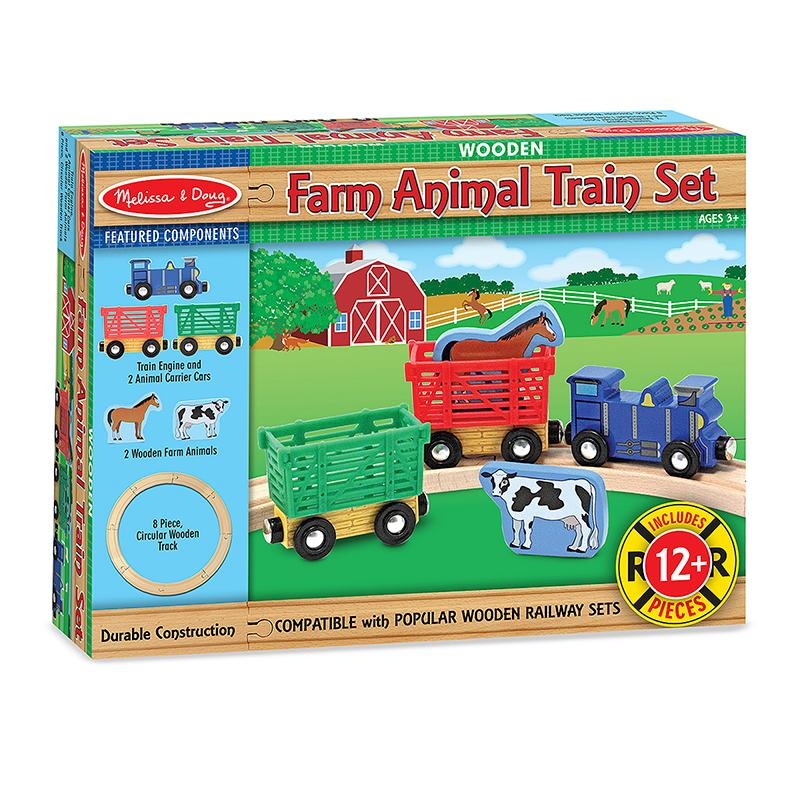 Farm Animal Train Set - Happki