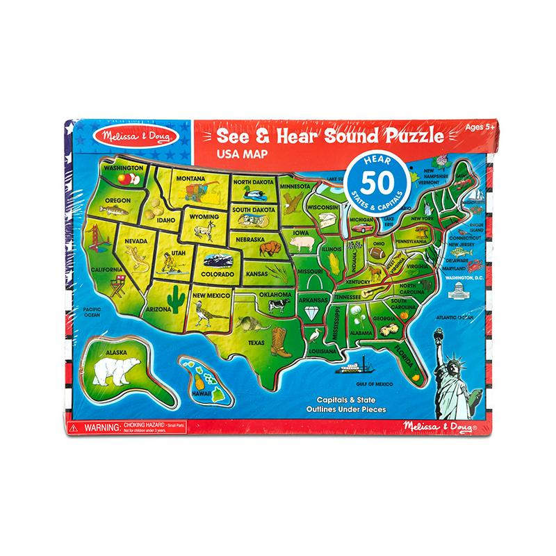 Melissa and Doug United States of America Sound Puzzle - 40 Pieces