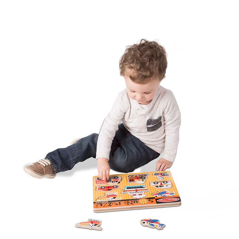 Melissa and Doug Vehicles Sound Puzzle - 8 Pieces